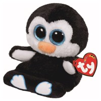 Ty Peek-a-Boo Penguin phone holder-Penni, 15 cm