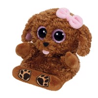 Ty Peek-a-Boo Dog phone holder-Zelda, 15 cm