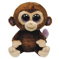 Ty Beanie Buddy Hug Monkey-Coconut