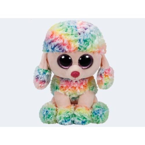 Image of   Ty bamse 24cm puddelhunden Rainbow