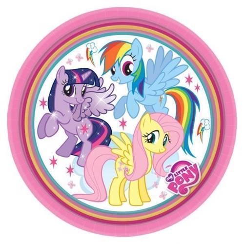 Image of My Little Pony Tallerkener, 8 stk. (0013051546557)