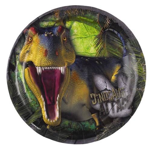 Image of   Dinosaur motiv tallerkener, 8 stk
