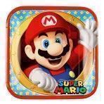 Image of   Super Mario tallerkener, 8stk.