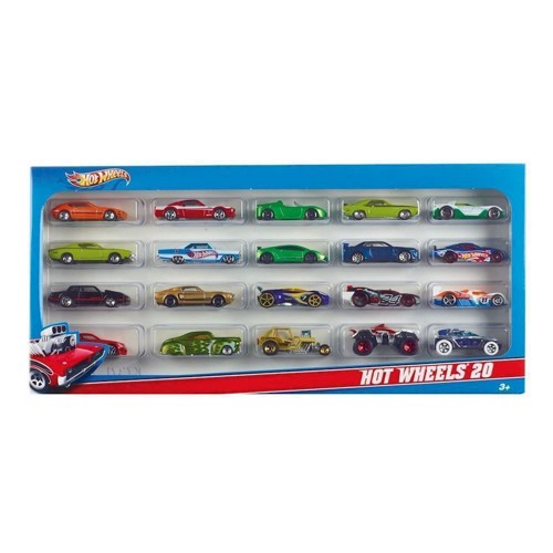 Image of Hot Wheels gaveæske med 20 biler (0027084257373)