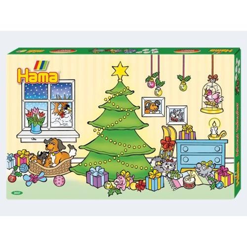 Image of   Hama julekalender med 5000 perler og 5 perleplader