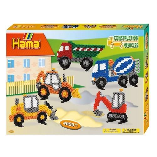 Image of Hama perlesæt med arbejdsbiler, 4000 perler (0028178031435)