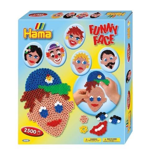 Image of Hama perlesæt med ansigter, 2500 perler (0028178032326)