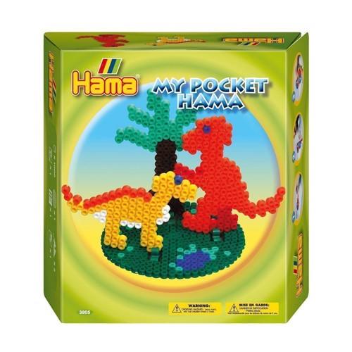 Image of   My Pocket Hama perlesæt med dinosaur, 1000 stk