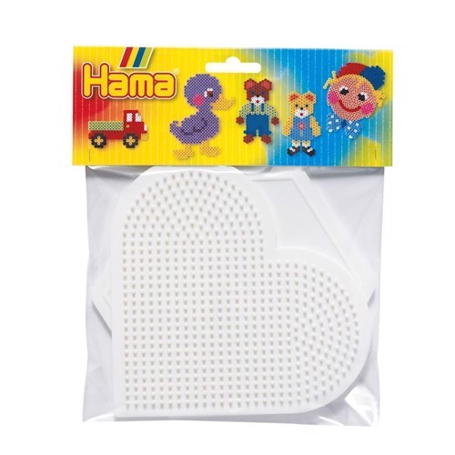 Image of   Hama 2 perleplader, hjerte og 6 kant