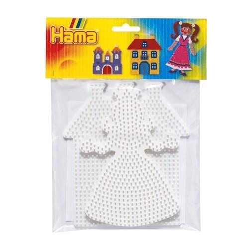 Image of   Hama 2 perleplader, prinsesse og slot