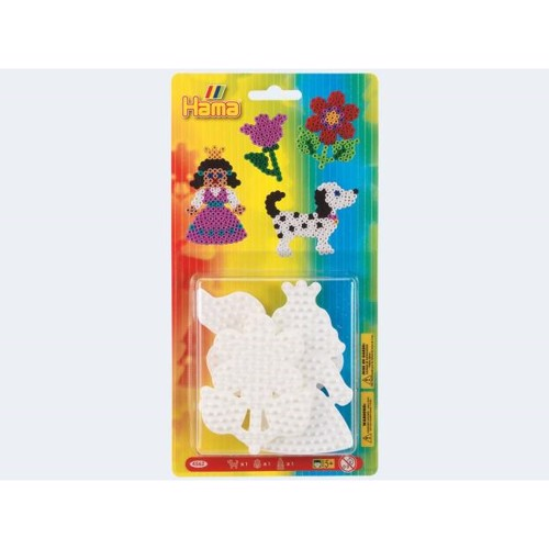 Image of   Hama 3 perleplader, hund blomst prinsesse