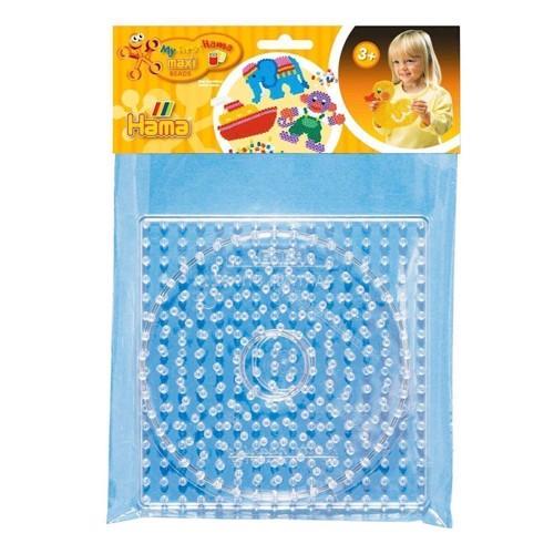 Image of   Hama 2 maxi perleplade, firkant og cirkel