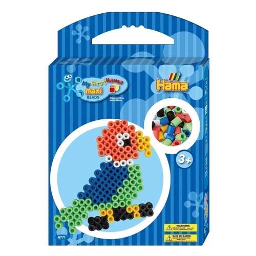 Image of Hama Maxi perlesæt med papegøje, 350 perler (0028178087715)