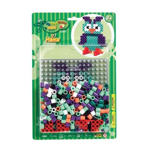 Image of Hama Maxi perlesæt med ugle, 250 perler (0028178089238)