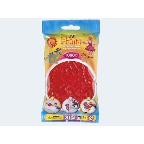 Image of   Hama perler rød 1000 stk