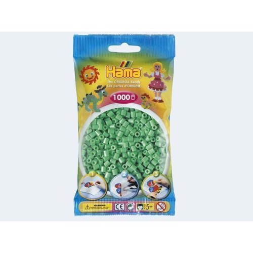 Image of   Hama perler mint grøn 1000 stk