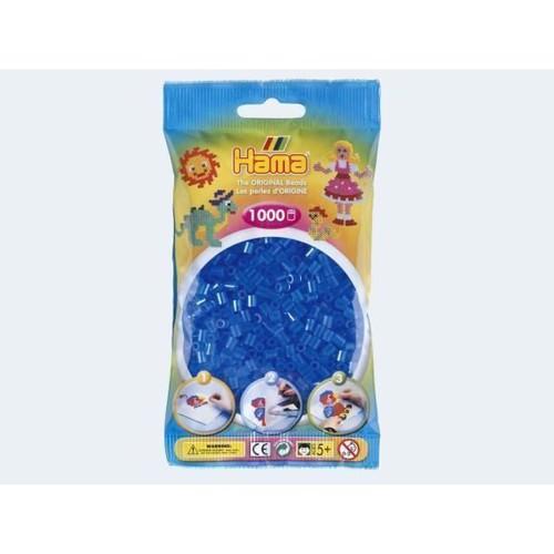 Image of   Hama perler gennemsigtig blå 1000 stk