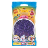 Hama Ironing beads-purple transparent (024), 1000pcs.