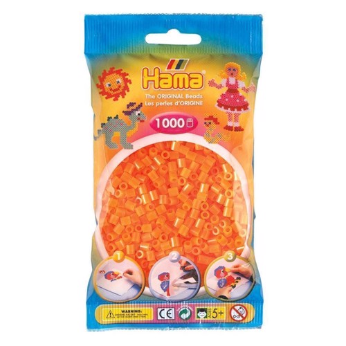 Image of Hama perler Orange Neon (038), 1000 stk (0028178207380)