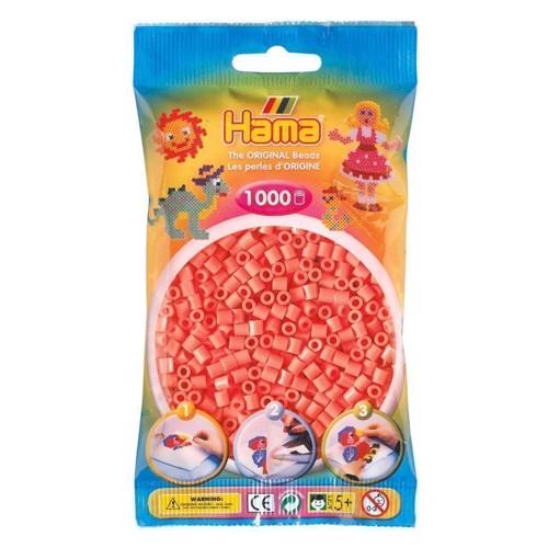 Image of   Hama perler rød Pastel (044), 1000 stk