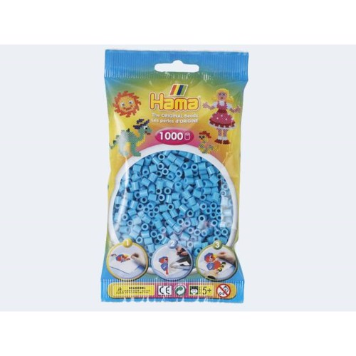 Image of   Hama perler azur blå 1000 stk