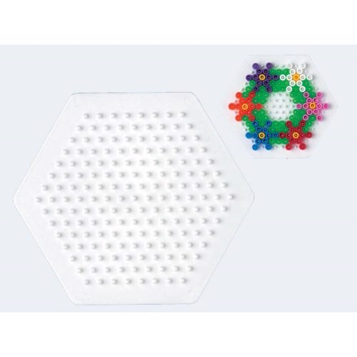 Image of   Hama perleplade 6 kantet hexagon lille