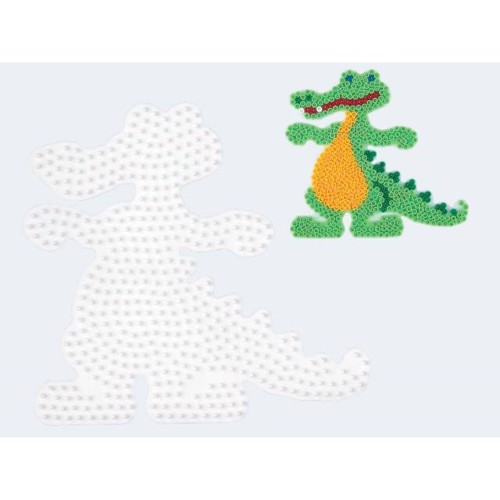Image of   Hama perleplade krokodille