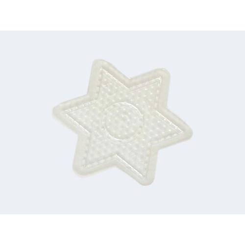 Image of   Hama gennemsigtig perleplade lille stjerne