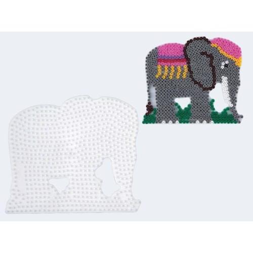 Image of   Hama perleplade elefant