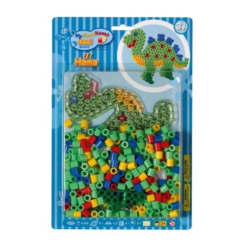 Image of Hama Maxi perlesæt med dinosaur, 250 perler (0028178890988)