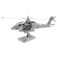 Metal Earth AH-64 Apache Silver Edition