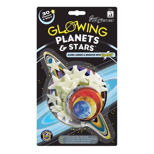 Image of   Glow in the Dark planets and stars, 30dlg.