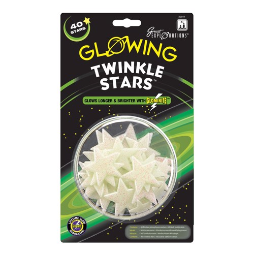 Image of   Glow in the Dark Twinkle Star, 40st.