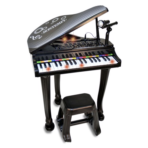 Image of   Bontempi Piano with Microphone and Stool
