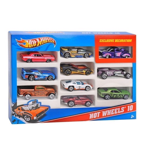 Image of Hot Wheels gaveæske med 10 biler (0074299548864)
