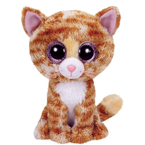 Image of   Ty Beanie Boo Cuddle Cat - Tabitha, 15cm