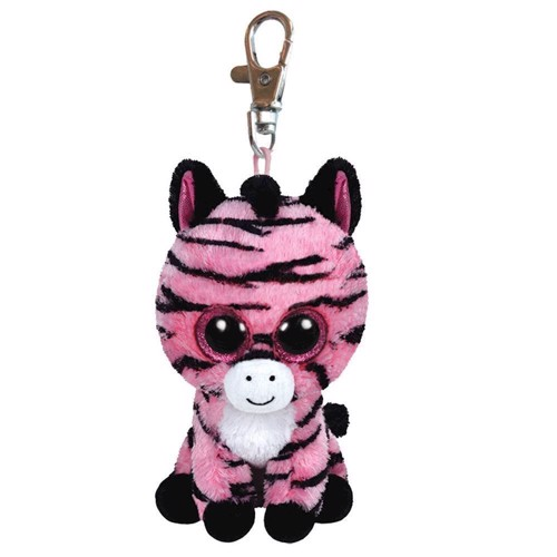 Image of   Ty Beanie Boo Keychain Zebra-Zoey