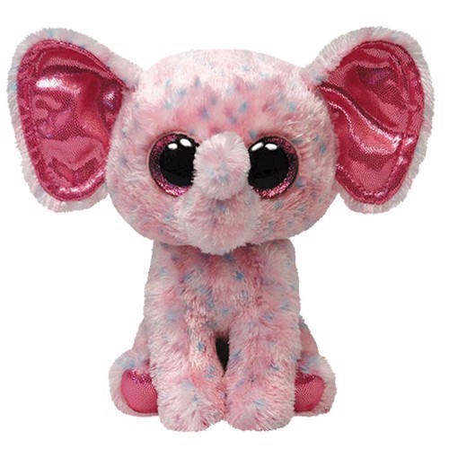 Image of   Ty Bamse Beanie Boo Pink Elefant