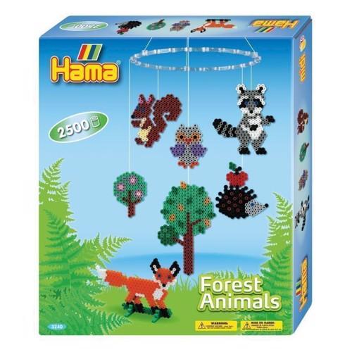 Image of Hama perlesæt med skovens dyr, 2500 perler (028178032401)