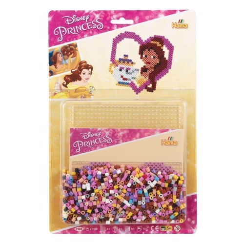Image of Hama perlesæt med Disney prinsesser, 1100 perler (028178079895)