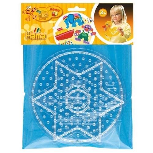 Image of Hama maxi perleplader, cirkel og stjerne (028178082659)