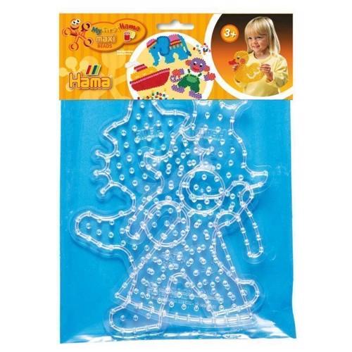 Image of Hama maxi perleplader, klovn og prinsesse (028178082666)