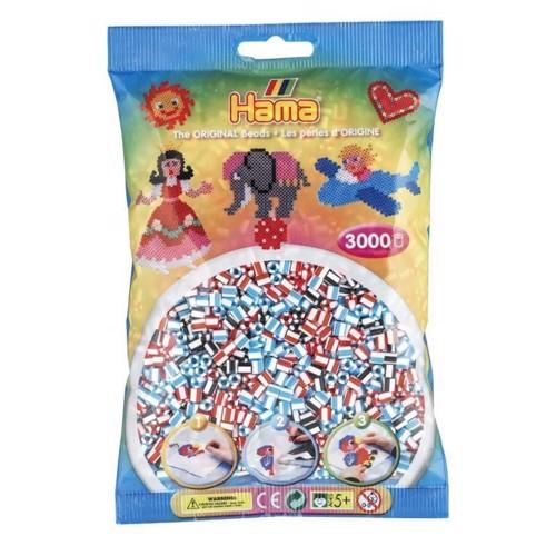 Image of   Hama stribede perler (201-91), 3000 stk