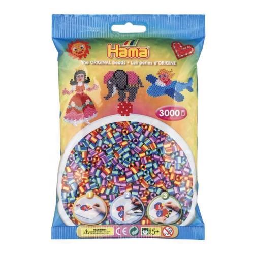 Image of   Hama stribede perler (201-92), 3000 stk