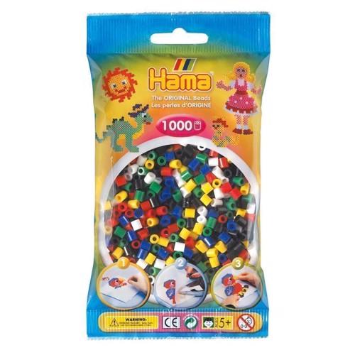 Image of   Hama perler blandede farver, 1000 stk