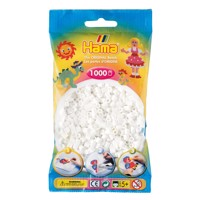 Hama Ironing beads-white (01), 1000pcs.