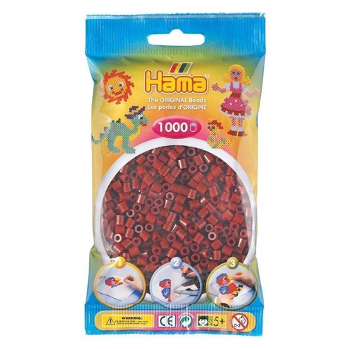 Image of   Hama perler Bordeaux rød (030), 1000 stk