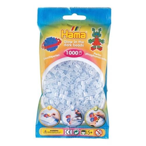 Image of   Hama perler selvlysende blå (057), 1000 stk