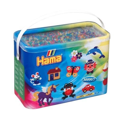 Image of Hama perler transparent mix (053), 30.000 stk (028178208530)
