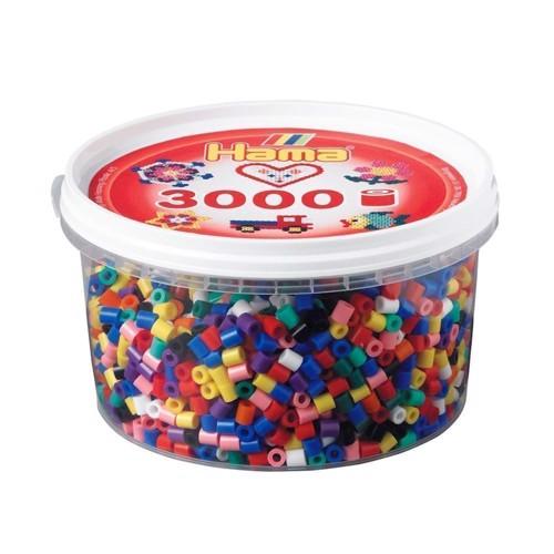 Image of Hama perler blandede farver (00), 3000 stk (028178210007)